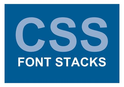 font design using css css font stacks