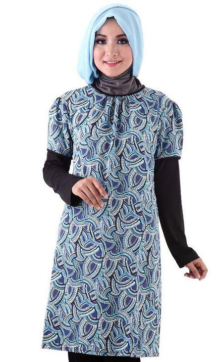 Batik Muslim gambar model baju batik muslim terbaru 2015