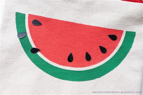 diy easy watermelon slice pouch free stencil today s