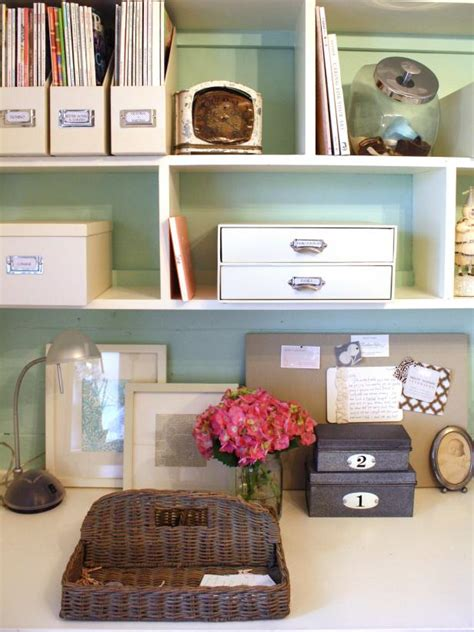 Organize Your Office Desk Chic Organized Home Office For 100 Hgtv