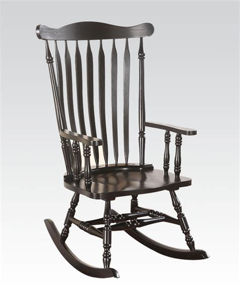 Black Rocking Chairs by Rocking Chair In Black By Acme Furniture Ac59211