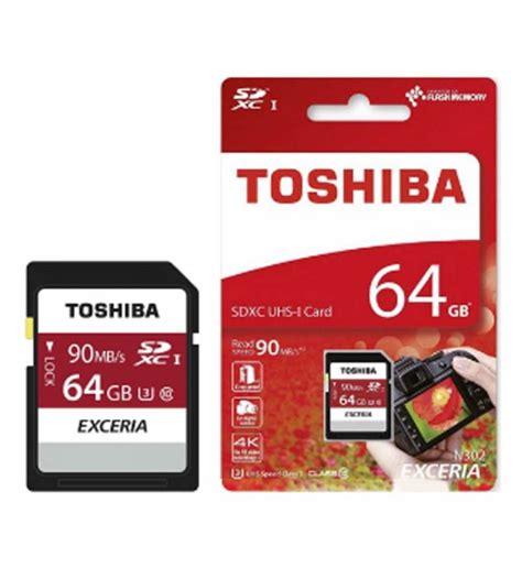 Promo Toshiba Sdhc Sdcard Memory Kamera 16gb 90mbps Class 10 toshiba exceria sdxc 64gb 90mb s