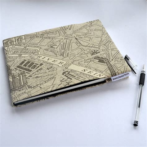 sketchbook notebook a5 map fabric notebook or sketchbook by grace