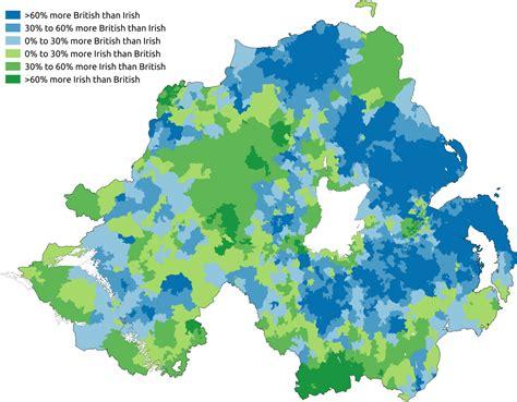 population map of ireland predominant national identity of northern ireland 2011