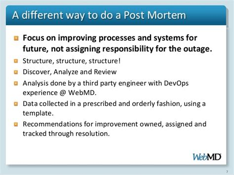post mortem template powerpoint incident analysis procedure and approach