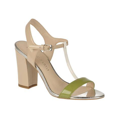 franco sarto sandals franco sarto jaunt sandals in beige kiwi barley white lyst