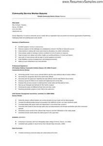 Community Volunteer Resume Sle by Community Service Resume