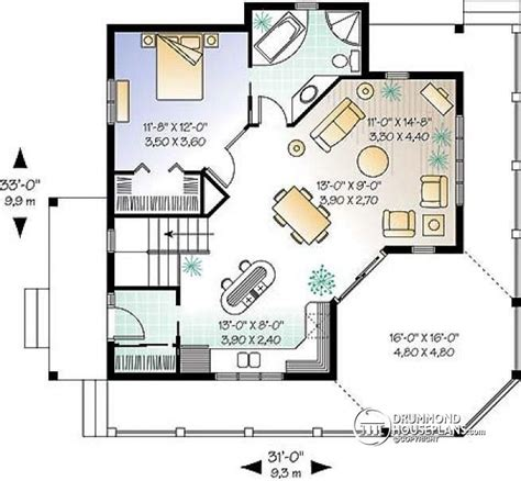 porch floor plan house plan w3900a detail from drummondhouseplans com