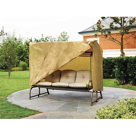 covered patio swing outdoor patio swing cover walmart com
