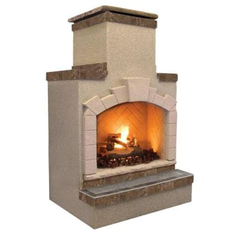 Outdoor Lp Gas Fireplace by Cal 48 In Propane Gas Outdoor Fireplace In Porcelain Tile Frp908 2 2 The Home Depot