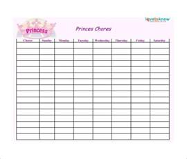 Chart Template by Weekly Chore Chart Template 31 Free Word Excel Pdf