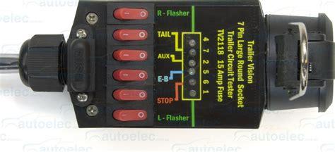trailer light tester box 7 pin trailer socket tester 12 volt 12v 24v 24 light