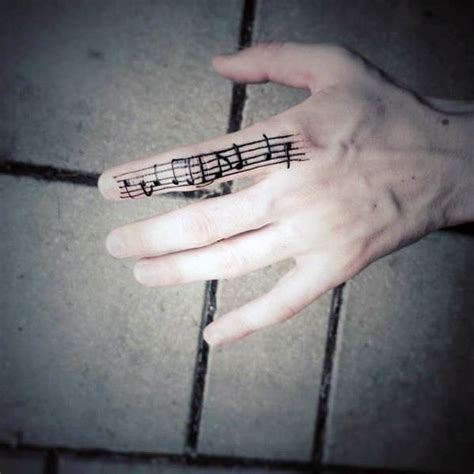 finger tattoo music note 40 simple music tattoos for men musical ink design ideas