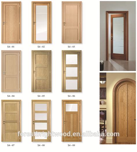 Glass Panel Closet Doors Glass Panel Interior Doors Wooden View Doors Wooden Forest Bright Product Details From Hebei