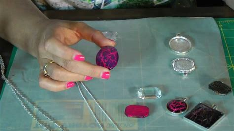 how to make jewelry shine crackle pendant tray necklace tutorial nail