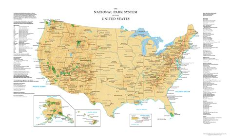 map usa national parks us national parks wall map