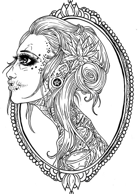 free coloring pages of don sugar skull