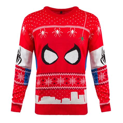 knitting pattern for spiderman jumper spider man knitted unisex christmas sweater jumper merchoid