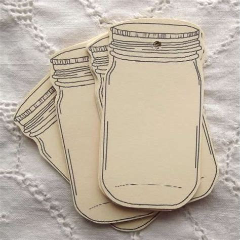 Jar Tags Template jar labels gift tags by sweetlyscrappedart on etsy