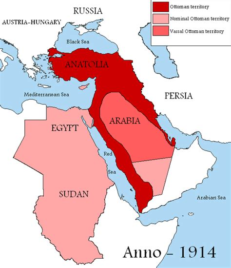 ottoman empire ww1 lost islamic history how the divided up the arab