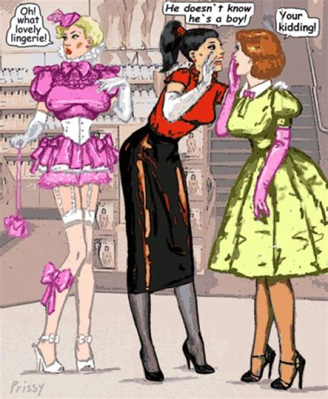 sissy boys training art prissy lovely lingerie tv art and captions pinterest
