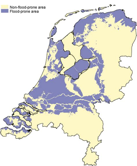 netherlands flood map cbs one third of economy in jeopardy in of