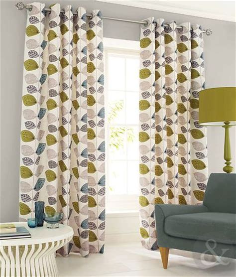 leaf curtains details about abstract leaf curtain pair green teal blue