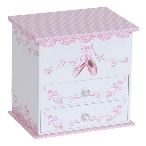 wooden musical ballerina jewelry box