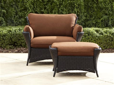 Outdoor Patio Chairs With Ottomans La Z Boy Outdoor Deve 2pc Everett Oversized Chair With Ottoman Limited Availability Sears