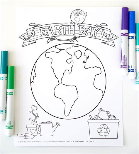 earth materials coloring pages earth day kids crafts coloring pages happiness is homemade