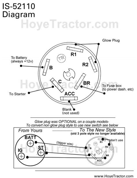 bobcat ignition switch diagram 5 position ignition switch
