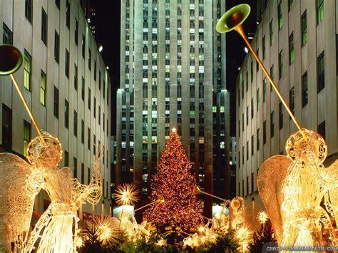 rockefeller center christmas tree wallpaper rockefeller center tree wallpaper lights decoration