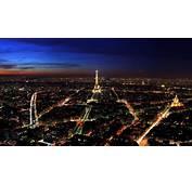 Wallpaperwiki Paris France Night Top View City Lights