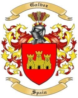 Galvez Family Crest from Spain by The Tree Maker