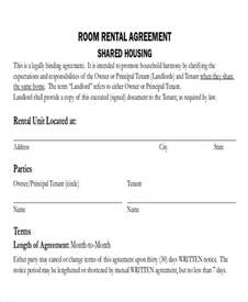 room rental lease agreement template 8 room rental agreement form sle exles in word pdf