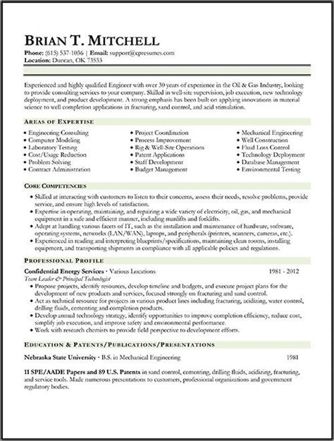 oil gas engineer resume sle work pinterest