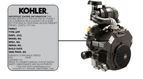 kohler engine model number locator how to find kohler