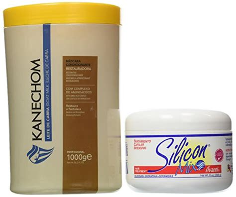 kanechom and silicon mix combo kanechom goat s milk leite de cabra mask 1kg