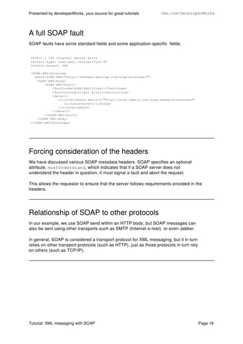 tutorial xml messaging with soap xml messaging with soap