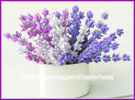 How To Make Paper Violets - lavender violets and paper quilling on