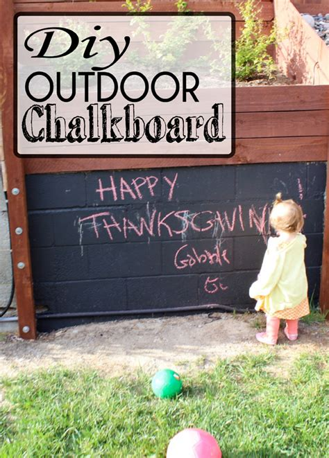 diy chalk paint outside diy outdoor chalkboard sohosonnet creative living