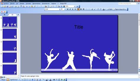 templates powerpoint dance dancers powerpoint template