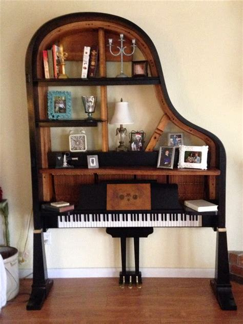 repurposed baby grand piano diy furniture upcycle
