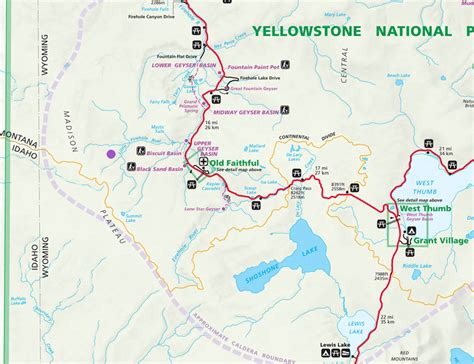 map of yellowstone park rivers of yellowstone national park