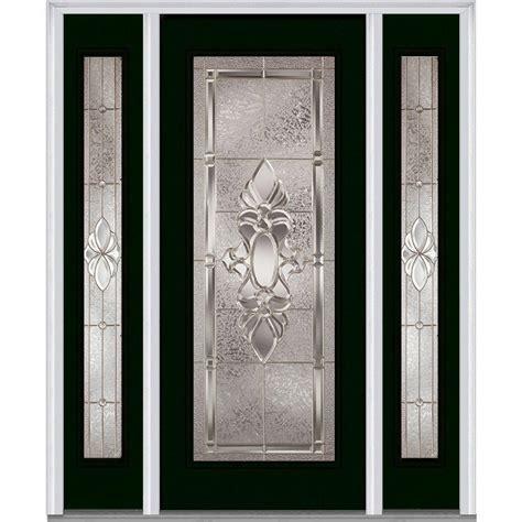 Fiberglass Exterior Doors With Glass Milliken Millwork 68 5 In X 81 75 In Heirloom Master Deco Glass 1 4 Lite Painted Fiberglass