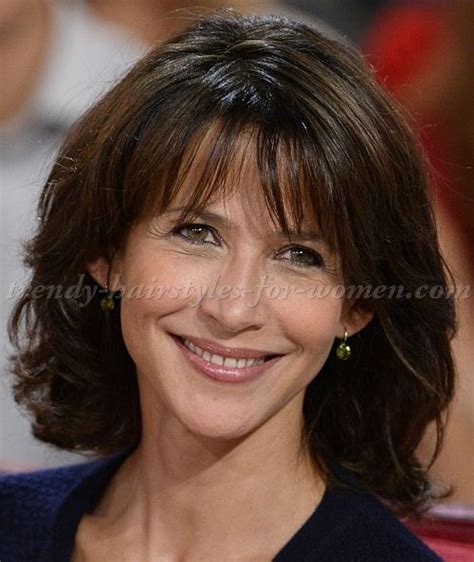 great hairdo for women in 50s with shoulder length hair medium hairstyles sophie marceau and shoulder length