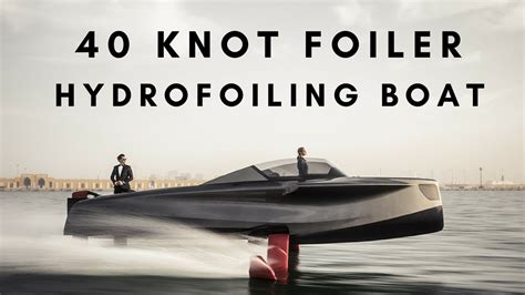 hydrofoil boat speed foiler hydrofoil boat for speeds up to 40 knots youtube