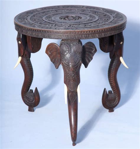 elephant accent table anglo indian elephant accent table at 1stdibs