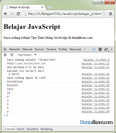 Dan Tipe Ac Aux pengertian tipe data string dan operator string javascript