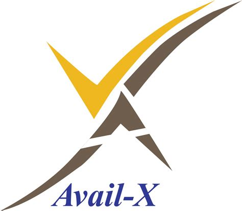 a logo with a x decisioncraft avail x